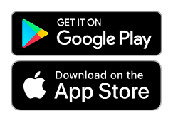 Google Play and App Store icons